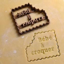 """Petit Beurre """"Bébé à Croquer"""" cookie cutter - Pregnancy"""