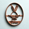 Rabbit cookie cutter - Custom Bunny cookie cutter with name