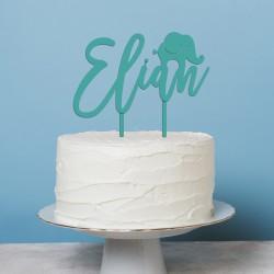 Décoration de gâteau Prénom (personnalisable) Elephant - Cake Topper