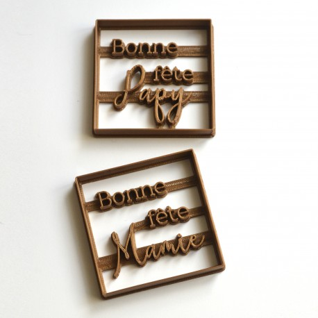 Set of 2 Grandparents day cookie cutter - Square