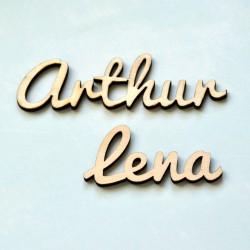 Custom Wood Tag - Font Nr.1