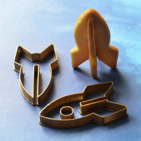 Space Rocket cookie cutter 3D