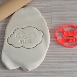Custom sleeping baby cookie cutter with name