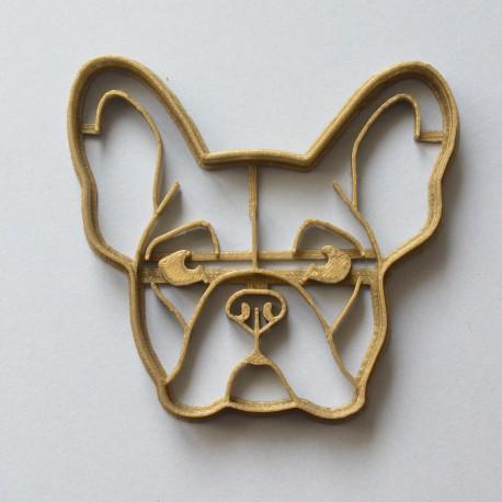 French Bulldog head cookie cutter