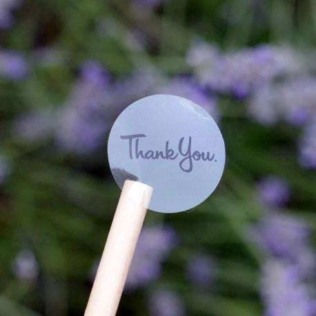 Autocollants pour Sachets pour biscuits et confiserie - Thank You Transparent