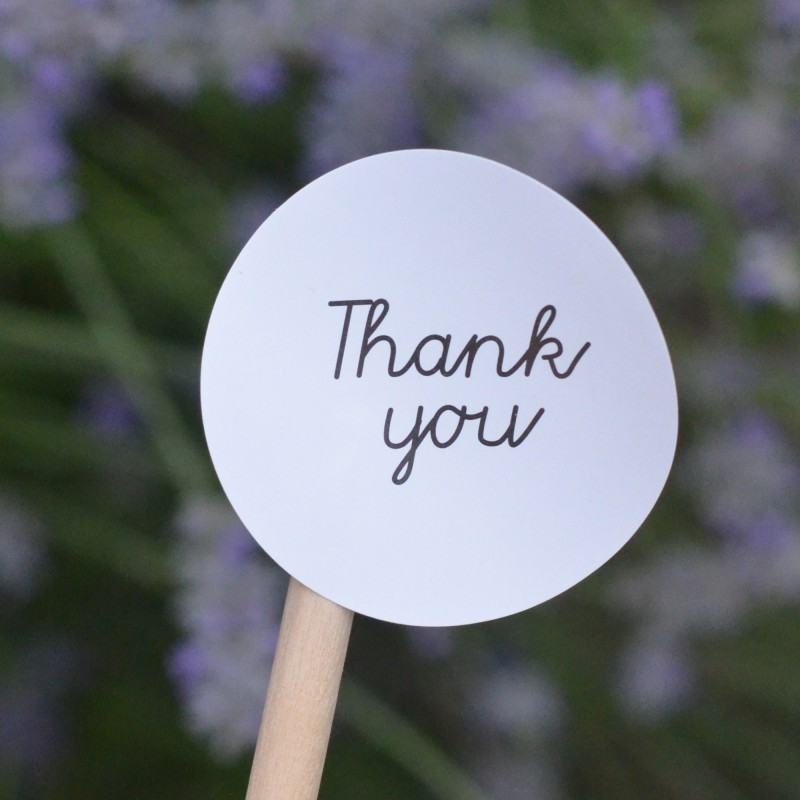 Black And White Thank You Stickers La Boite A Cookies