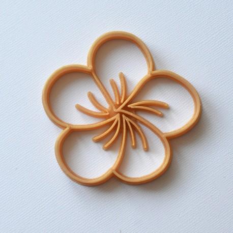 Plumeria Flower cookie cutter