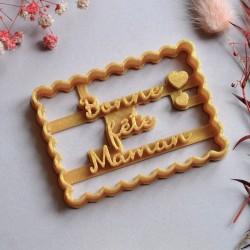 """Petit Beurre """"Bonne fête Maman"""" cookie cutter"""