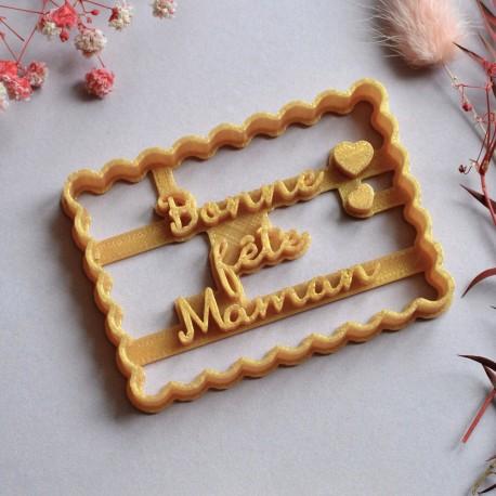 Emporte-pièce Petit Beurre Bonne fête Maman