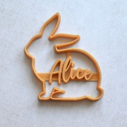Custom Rabbit Silhouette cookie cutter