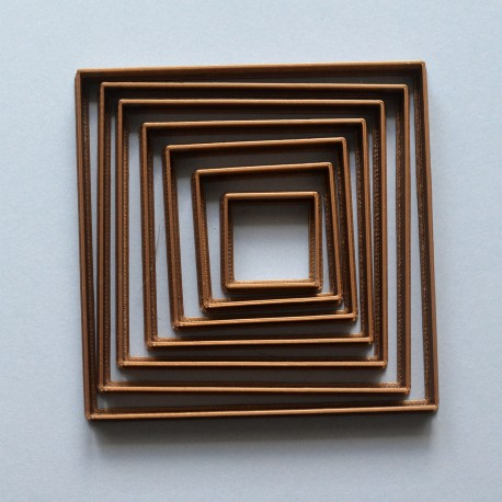 Square shape cookie cutter