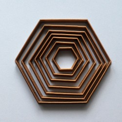 Hexagon shape cookie cutter