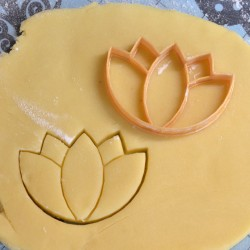 Lotus Flower cookie cutter