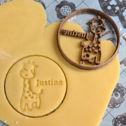 Custom giraffe cookie cutter