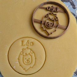 Custom lion cookie cutter