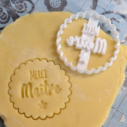 """Merci Maitre"" cookie cutter - Teacher's Day"