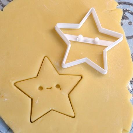Kawaii star cookie cutter