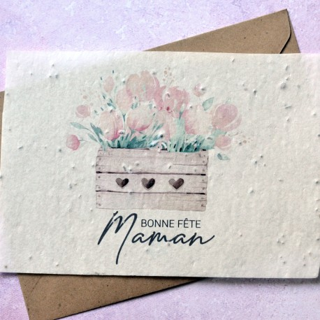 Greeting card Mother's day - seed paper