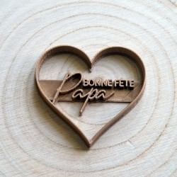 Bonne fête Papa Heart cookie cutter - Personalized with name