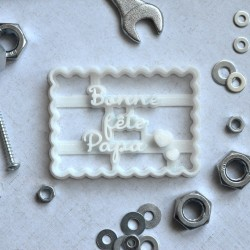 Emporte-pièce Petit Beurre Bonne fête Papa