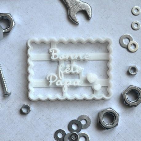 """Petit Beurre """"Bonne fête Papa"""" cookie cutter"""