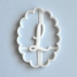 Emporte-pièce ovale festonné (Personnalisable)