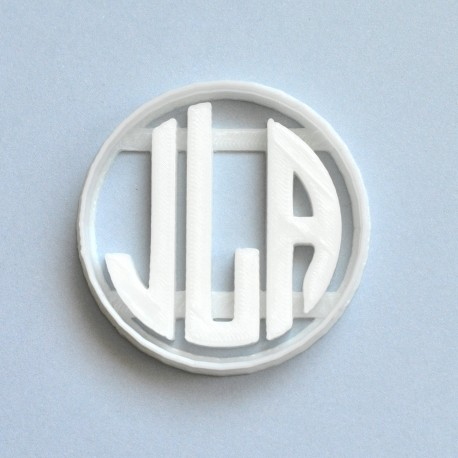 Monogram cookie cutter - personalized