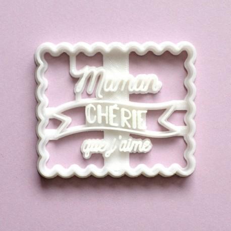 "Petit Beurre ""Maman Chérie"" cookie cutter"