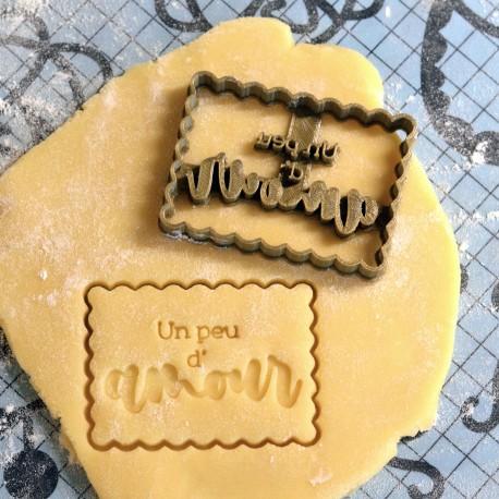 Un peu d'amour Birthday cookie cutter - Love