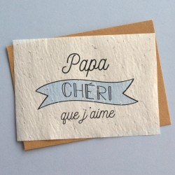 Greeting card father's day - seed paper