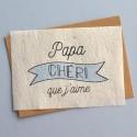 Carte ensemencée Papa Chéri