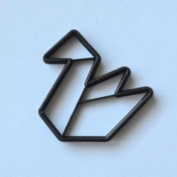 Paper Swan Origami cookie cutter