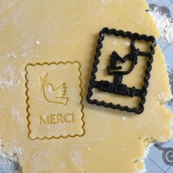 Petit Beurre Custom cookie cutter with name and flower - Personalized