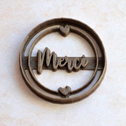Custom Merci cookie cutter