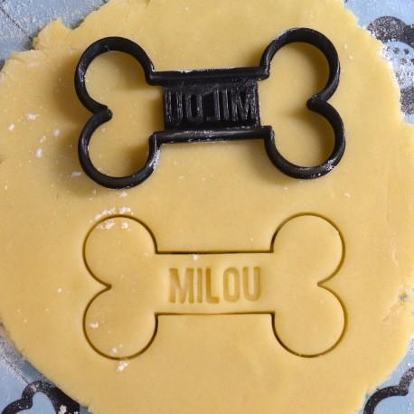 Custom dog bone cookie cutter - Personalized