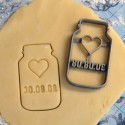 Custom cookie jar cookie cutter - Personalized