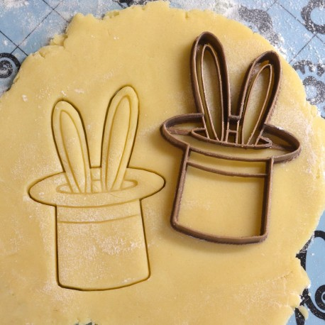 Magician hat cookie cutter with rabbit