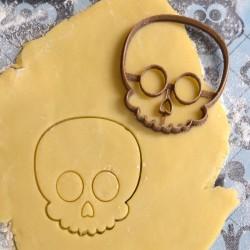 Halloween skull cookie cutter