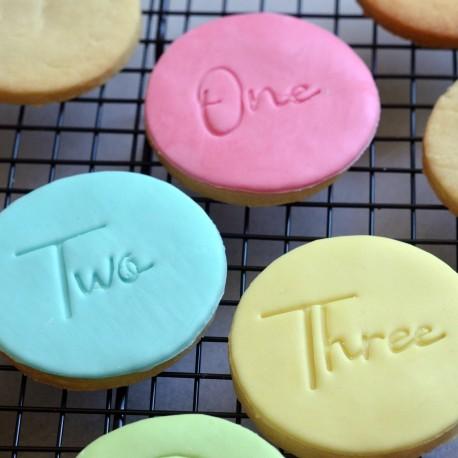 Tampon à biscuit Anniversaire