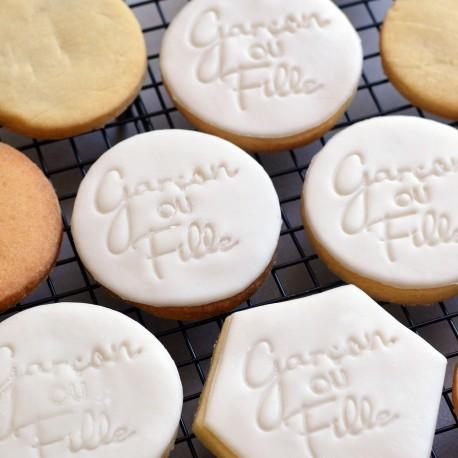 Gender reveal Cookie Stamp