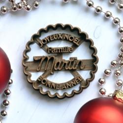 Emporte-pièce Joyeux Noël Famille (personnalisé)