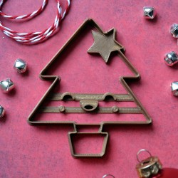 Kawaii Christmas Tree cookie cutter