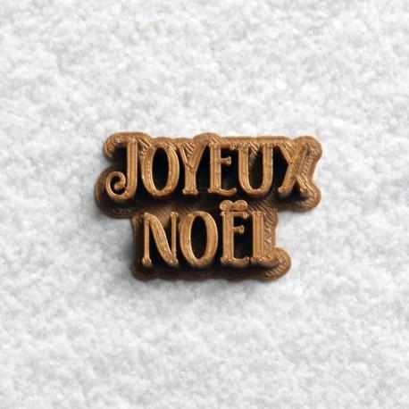 Tampon à biscuit Joyeux Noël V2
