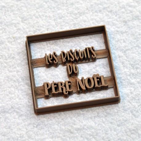 """""""Biscuits du Père Noël"""" cookie cutter"""