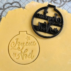 "Christmas ornament ""Joyeux Noël"" cookie cutter V2"