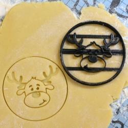 Santa Reindeer cookie cutter