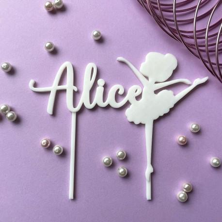 Décoration de gâteau personnalisé Danseuse - Cake Topper