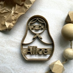 Custom Matriochka doll cookie cutter