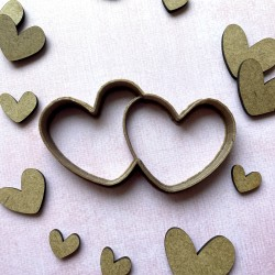 Couple hearts cookie cutter