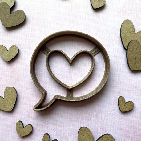 Comic book heart cookie cutter